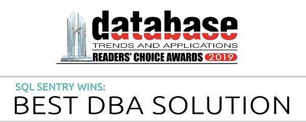 SentryOne SQL Sentry Wins Best DBA Solution